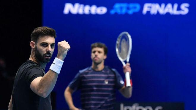 Granollers y Ceballos celebran su victoria ante Soares y Pavic.