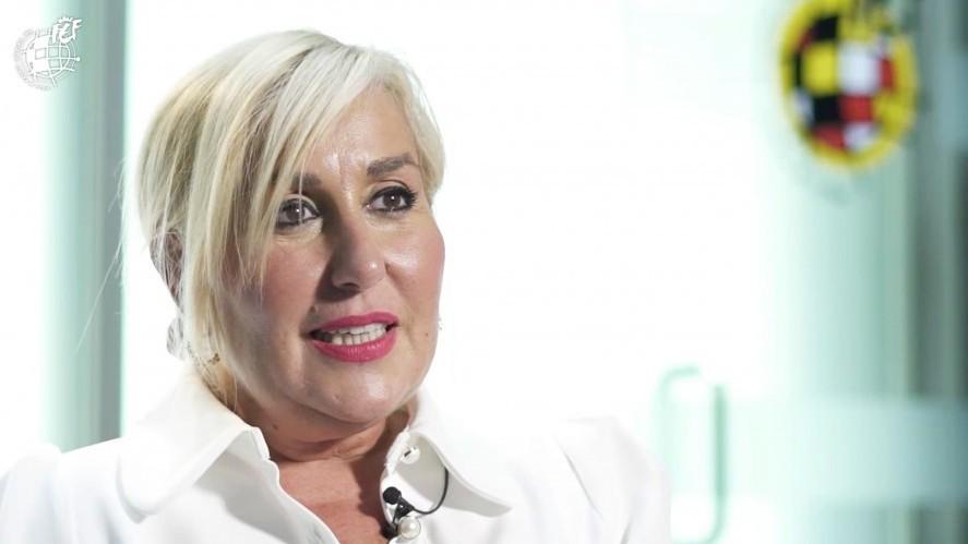 María Tato durante una entrevista concedida a la RFEF.