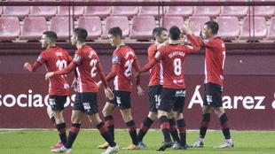 Los jugadores de Logroñes, durante un partido esta temporada.