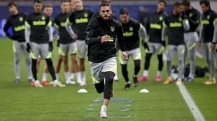 Koke en un entrenamiento con el Atlético esta temporada.