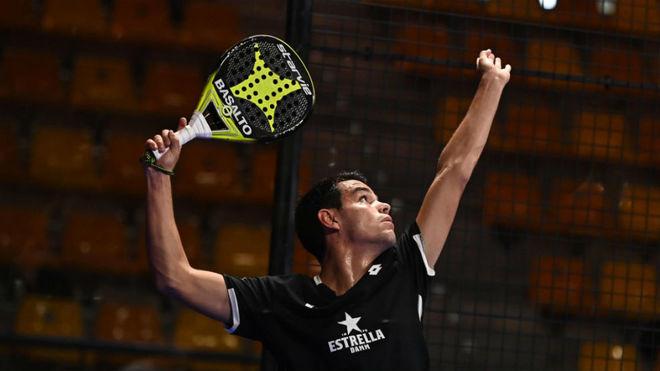 Coki Nieto, durante su partido de dieciseisavos.