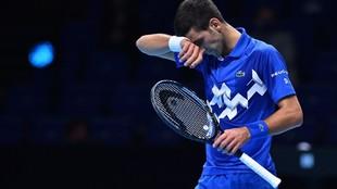 Djokovic, durante su partido contra Medvedev