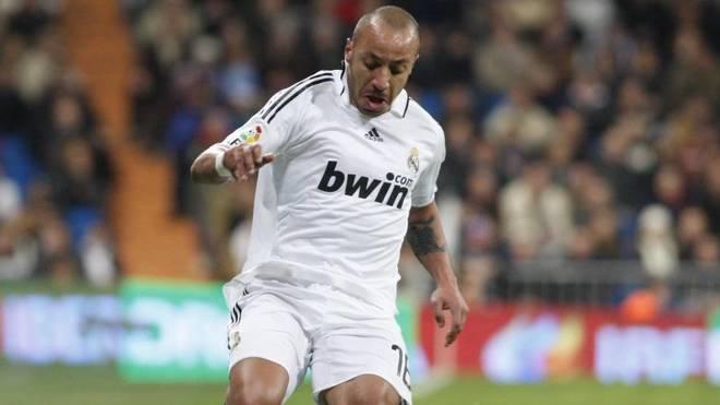 Julien Faubert, en un partido con el Real Madrid ante el Racing en el...