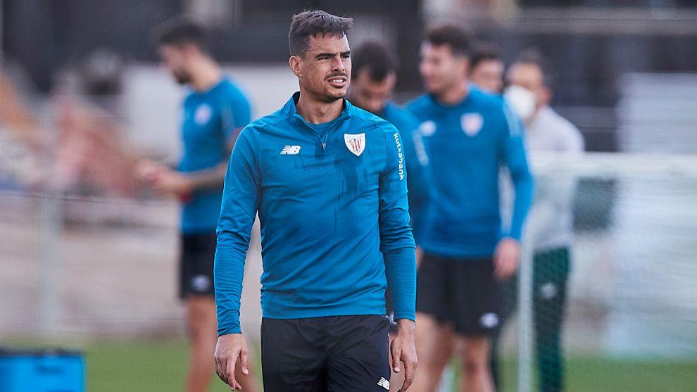 Dani García, en uno de sus últimos entrenamientos en Lezama.