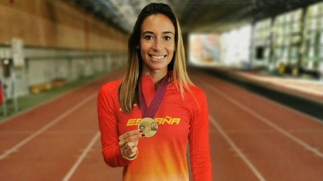 Laura García-Caro, con su bronce en las pistas de la Blume