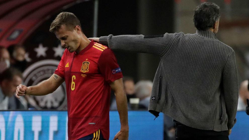 Canales, consolado por Luis Enrique tras su lesión