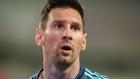 Messi, en un partido con Argentina.