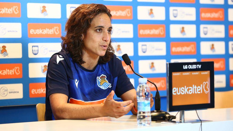 Natalia Arroyo, durante una rueda de prensa.