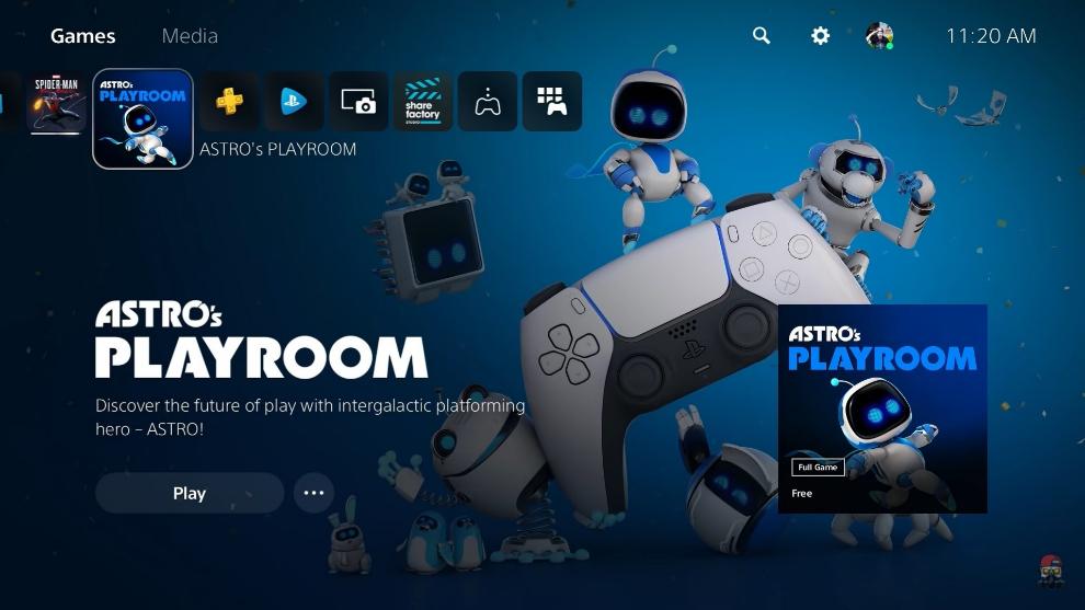 Así luce la interfaz de la PlayStation 5