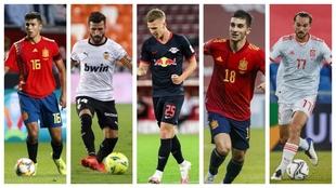 Rodri, Gayá, Olmo, Ferrán Torres y Fabián.