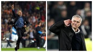 José Mourinho antes y después.