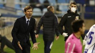 Ziganda, durante el partido del Oviedo de la pasada jornada.