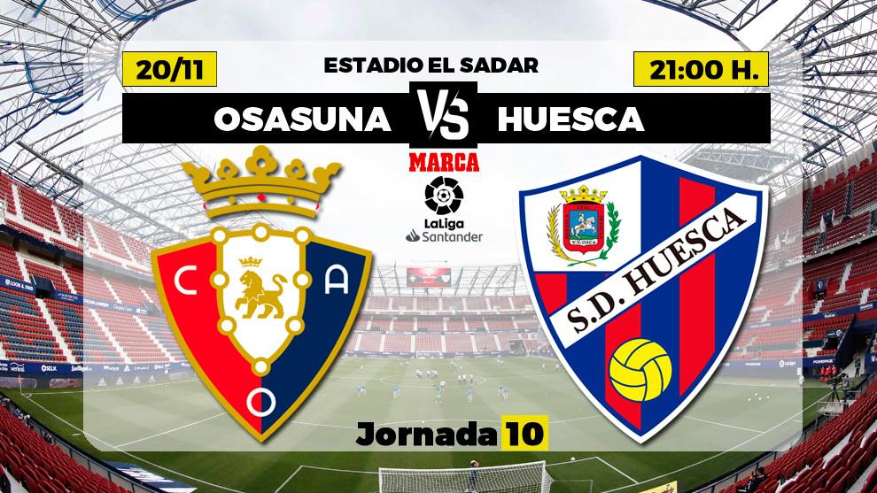 Osasuna - Huesca: horario y donde ver por TV hoy el partido de...
