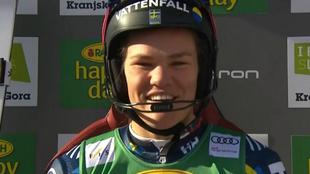 Anna Swenn Larsson lideraba el equipo sueco en los slaloms de Levi que...