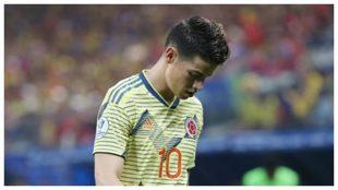 Crisis en Colombia y los jugadores, a tortas: James, acusado