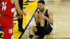 Klay Thompson se duele de la rodilla izquierda en las Finales de 2019