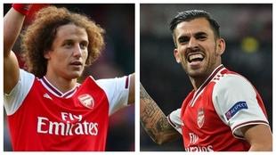 David Luiz y Dani Ceballos en el Arsenal.
