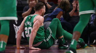 Hayward el día en el que se lesionó de gravedad con los Celtics en...