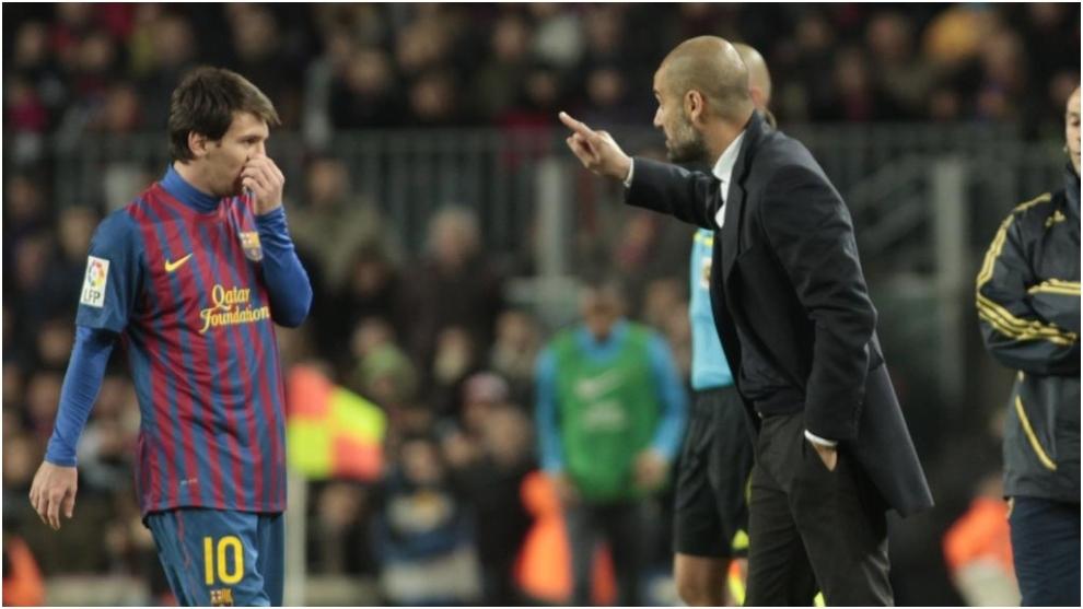 Leo Messi and Pep Guardiola.