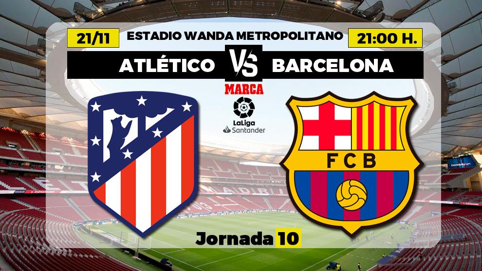 Atlético de Madrid - Barça: horario y donde ver por television el...