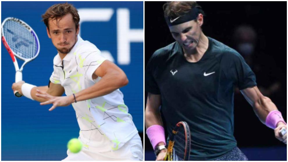 Medvedev - Nadal: Horario y donde ver por TV la semifinal de la Copa...