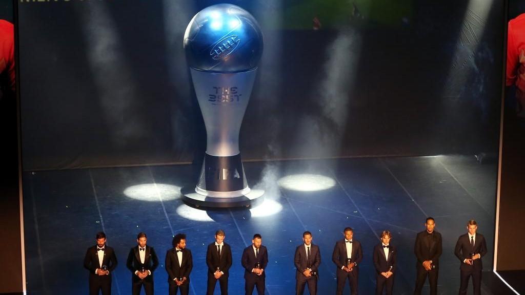 Ceremonia de entrega de los últimos premios The Best.