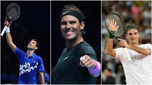 Djokovic, Nadal y Federer