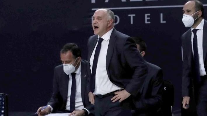 Pablo Laso, durante un partido del Madrid.