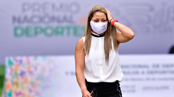 La tenista Renata Zarazúa, presente en la ceremonia.