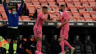 Mariano entra por Benzema en el partido de la última jornada en...