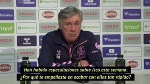 La contundente respuesta de Ancelotti cuando le preguntan si va a fichar a Isco