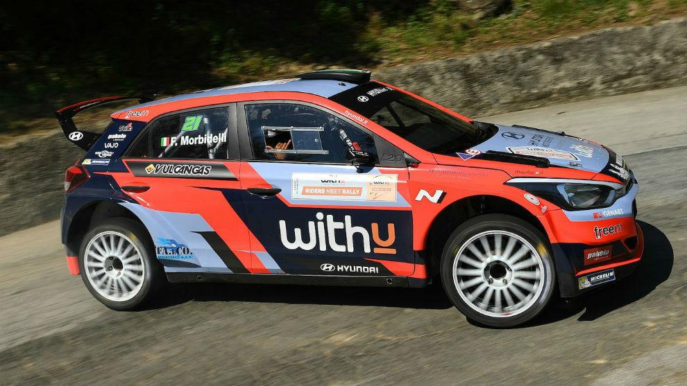 Franco Morbidelli, sobre el Hyundai R5.