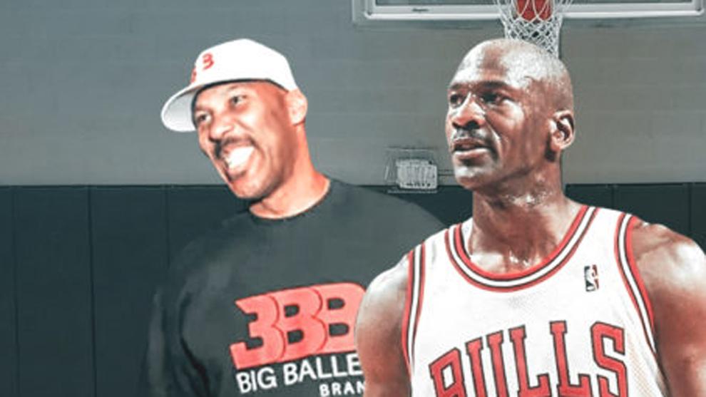 Montaje con LaVar Ball y Michael Jordan