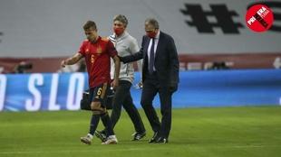 Canales abandona lesionado el partido que disputó España contra...