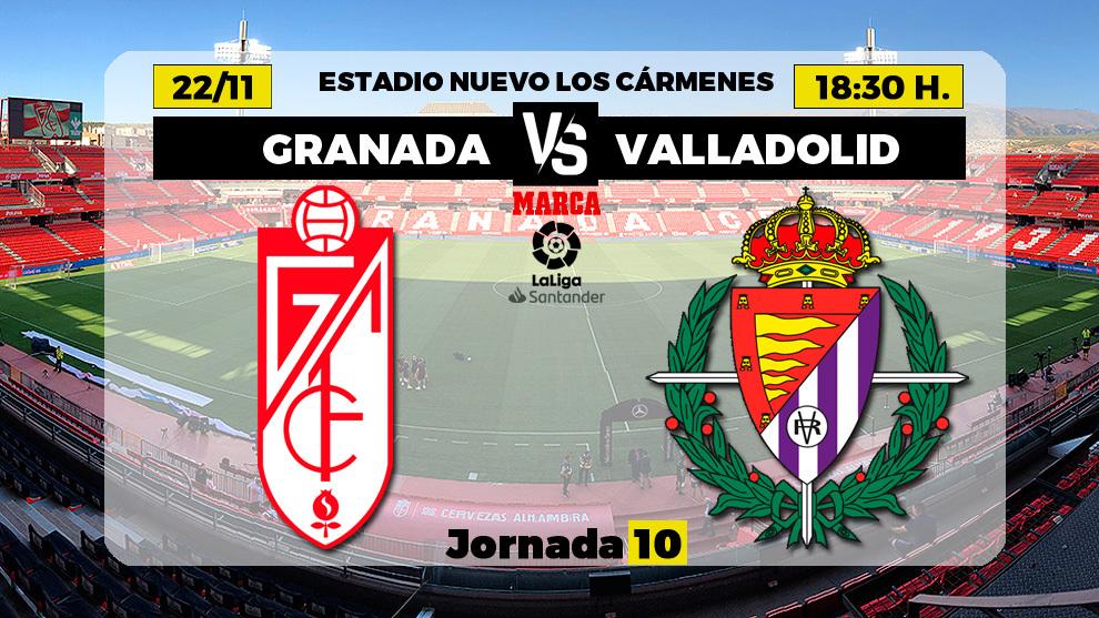 Granada - Valladolid   22 de noviembre a las 18.30 horas