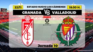 Granada - Valladolid | 22 de noviembre a las 18.30 horas