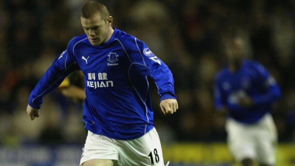 Rooney durante un partido con el Everton