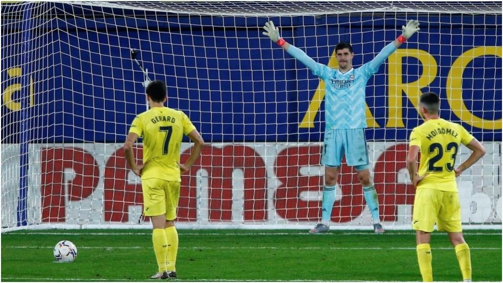Real Madrid's Belgian goalkeeper Thibaut Courtois.