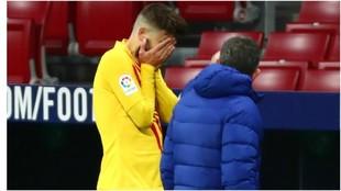 Piqué se lesionó en el partido contra el Atlético de Madrid.