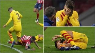 Congela el alma: las imágenes de Piqué tras la lesión