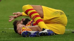Gerard Piqué, lesionado en el Metropolitano