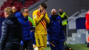 Lesión de Gerard Piqué podría no ser tan grave.