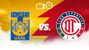 Tigres vs Toluca: Horario y dónde ver