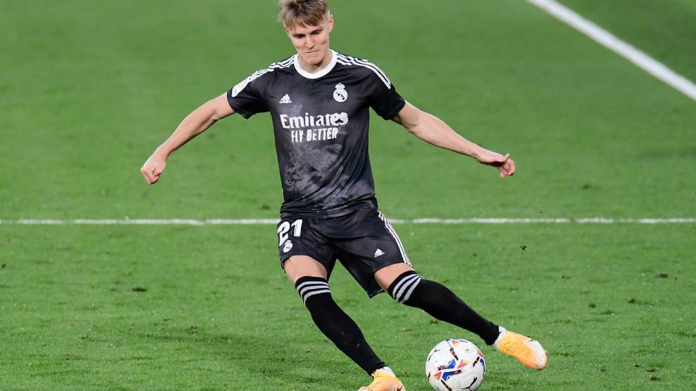 Martin Odegaard against Villarreal