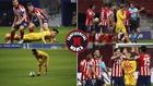 Distintos momentos del Atlético-Barça