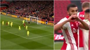 El Ajax calca el gol de córner que el Liverpool le hizo al Barça