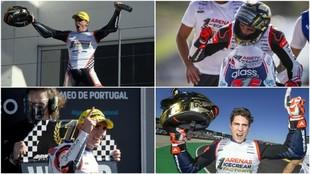 Arenas festeja su título de Moto3.