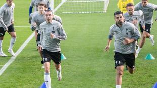 Sesión de entrenamiento del Celta de Vigo.