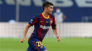 Sergi Roberto, baja del Barcelona durante dos meses.  