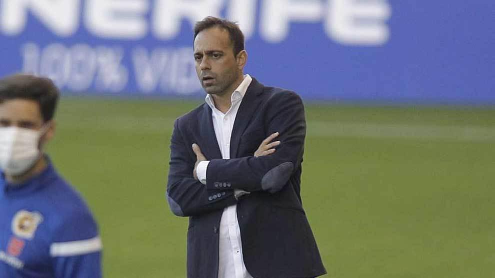 Fran Fernández, durante el partido ante el Logroñés... el último...